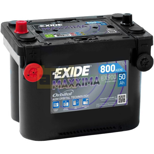 Автомобильный аккумулятор Exide 6СТ-50 Maxxima AGM Orbital EX900