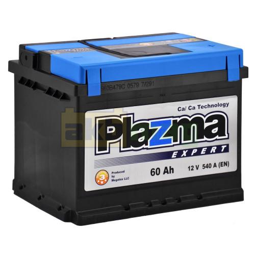 Автомобильный аккумулятор Plazma 6СТ-60 Expert