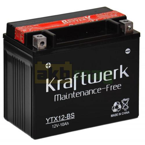 Мото аккумулятор Kraftwerk 6СТ-10 YTX12-BS