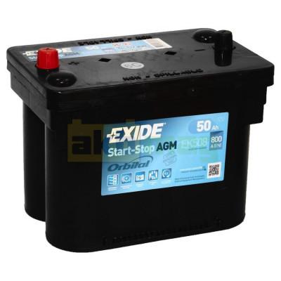 Автомобильный аккумулятор Exide 6СТ-50 Start-Stop AGM Orbital EK508