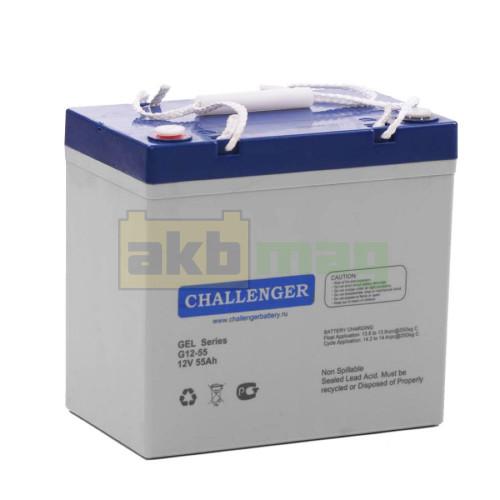 Гелевый аккумулятор Challenger G12-55
