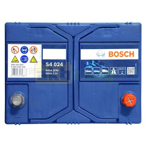 Автомобильный аккумулятор Bosch 6СТ-60 S4 024 0092S40240