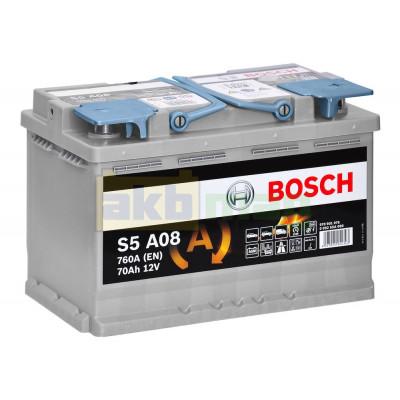 Автомобильный аккумулятор Bosch 6СТ-70 S5 A08 AGM 0092S5A080