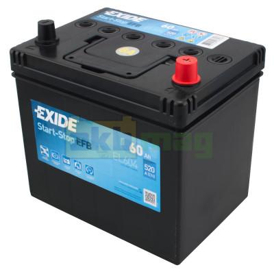 Автомобильный аккумулятор Exide 6СТ-60 Start-Stop EFB EL604