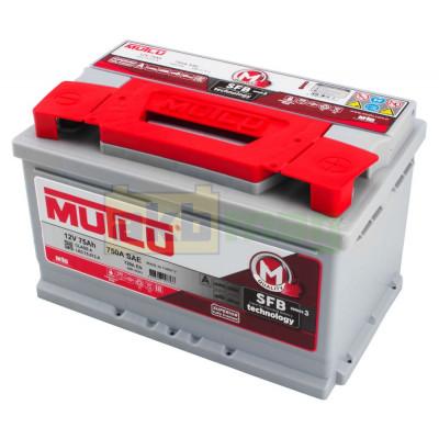 Автомобильный аккумулятор Mutlu 6СТ-75 SFB Series 3 720A