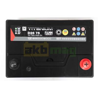 Автомобильный аккумулятор Fiamm 6СТ-75 Titanium Black Asia