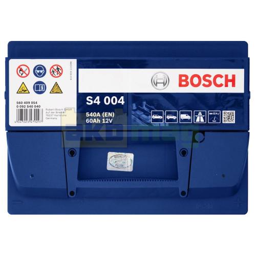 Автомобильный аккумулятор Bosch 6СТ-60 S4 004 0092S40040
