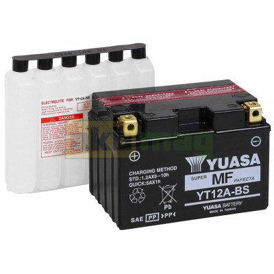 Мото аккумулятор Yuasa 6СТ-10 YT12A-BS