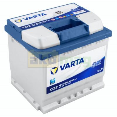 Автомобильный аккумулятор Varta 6СТ-52 C22 Blue Dynamic