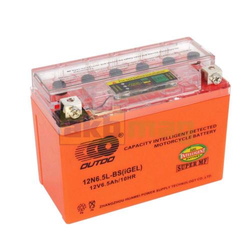 Мото аккумулятор Outdo 6СТ-6,5 UTX6.5L-BS