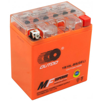 Мото аккумулятор Outdo 6СТ-11 YB10L-BS