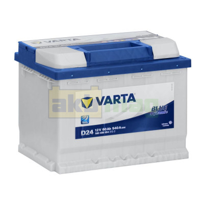 Автомобильный аккумулятор Varta 6СТ-60 D24 Blue Dynamic
