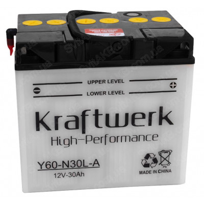 Мото аккумулятор Kraftwerk 6СТ-30 Y60-N30L-A