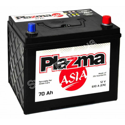 Автомобильный аккумулятор Plazma 6СТ-70 Asia