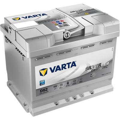 Автомобильный аккумулятор Varta 6СТ-60 D52 Silver Dynamic AGM