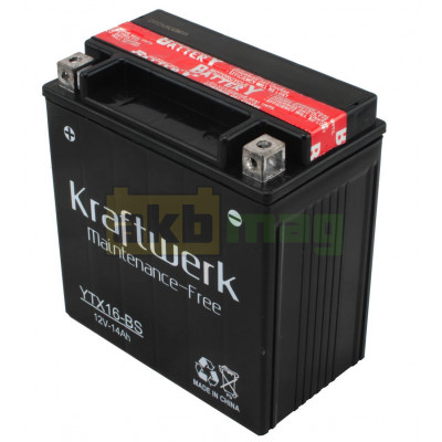 Мото аккумулятор Kraftwerk 6СТ-14 YTX16-BS