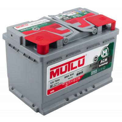 Автомобильный аккумулятор Mutlu 6СТ-70 Start-Stop AGM