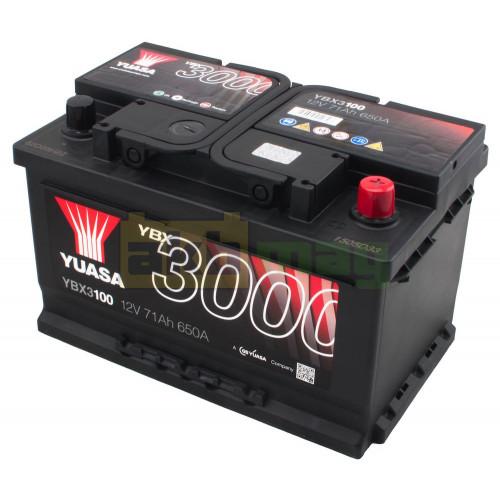 Автомобильный аккумулятор Yuasa 6СТ-71 SMF YBX3100