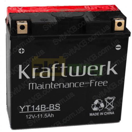 Мото аккумулятор Kraftwerk 6СТ-12 YT14B-BS