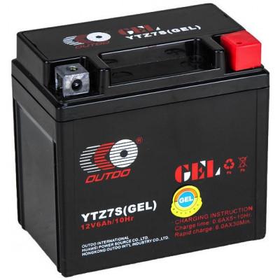 Мото аккумулятор Outdo 6СТ-6 YTZ7S