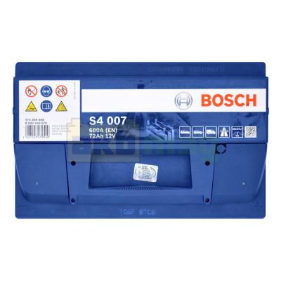 Автомобильный аккумулятор Bosch 6СТ-72 S4 007 0092S40070