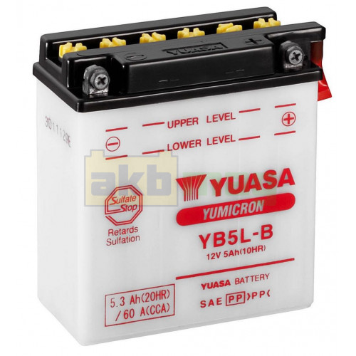 Мото аккумулятор Yuasa 6СТ-5,3 YuMicron YB5L-B
