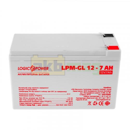 Аккумулятор LogicPower LPM-GL12-7