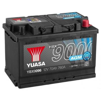 Автомобильный аккумулятор Yuasa 6СТ-70 AGM Start Stop Plus YBX9096