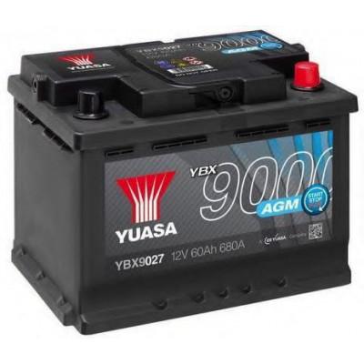 Автомобильный аккумулятор Yuasa 6СТ-60 AGM Start Stop Plus YBX9027
