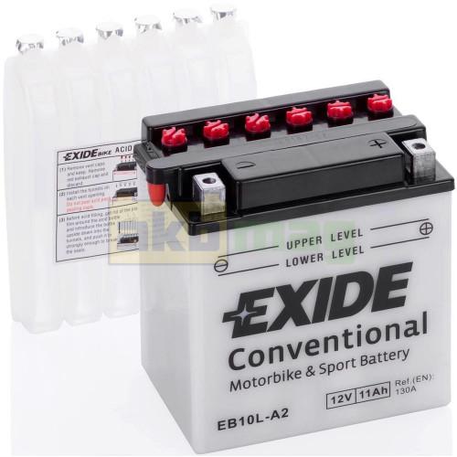 Мото аккумулятор Exide 6СТ-11 EB10L-A2