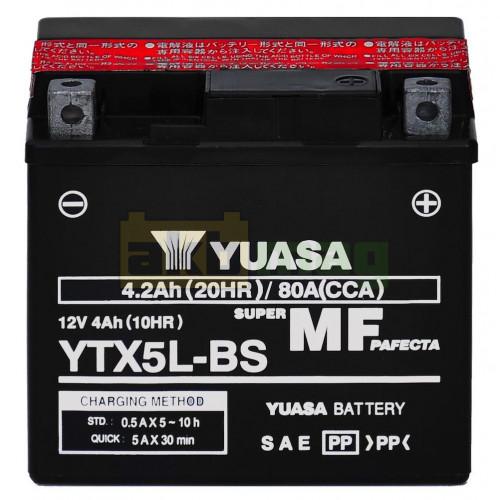 Мото аккумулятор Yuasa 6СТ-4 YTX5L-BS