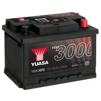 Автомобильный аккумулятор Yuasa 6СТ-60 SMF YBX3075