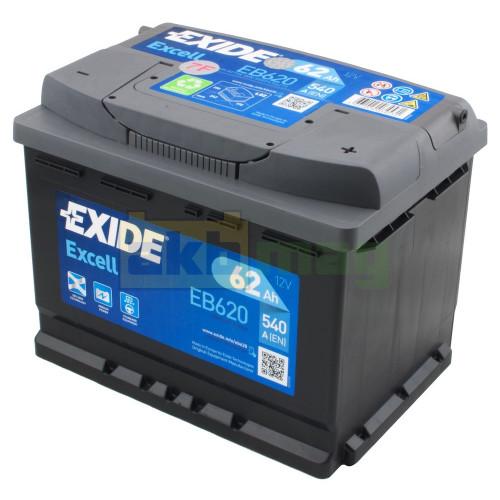 Автомобильный аккумулятор Exide 6СТ-62 Excell EB620