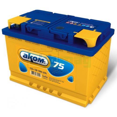 Автомобильный аккумулятор Аком 6СТ-75
