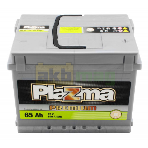 Автомобильный аккумулятор Plazma 6СТ-65 Premium
