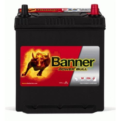 Автомобильный аккумулятор     Banner 6СТ-40 Power Bull P4025