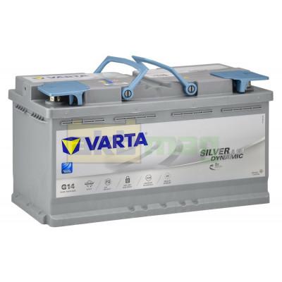 Автомобильный аккумулятор Varta 6СТ-95 G14 Silver Dynamic AGM