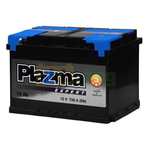 Автомобильный аккумулятор Plazma 6СТ-74 Expert