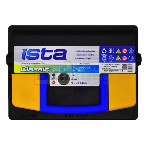 Автомобильный аккумулятор Ista 6СТ-60 Classic