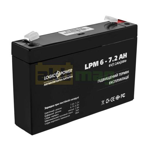 Аккумулятор LogicPower LPM6-7,2