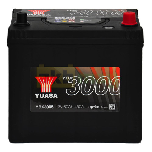 Автомобильный аккумулятор Yuasa 6СТ-60 SMF YBX3005