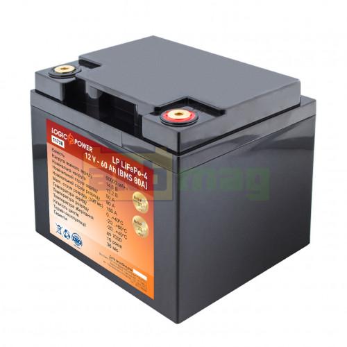 Аккумулятор LogicPower LiFePO4 12V 60AH (BMS 80) Пластик