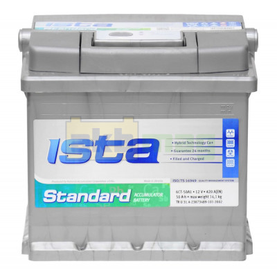 Автомобильный аккумулятор Ista 6СТ-50 Standard L