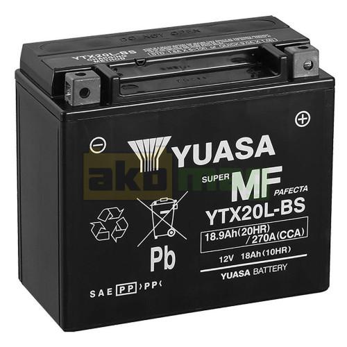 Мото аккумулятор Yuasa 6СТ-18,9 YTX20L-BS