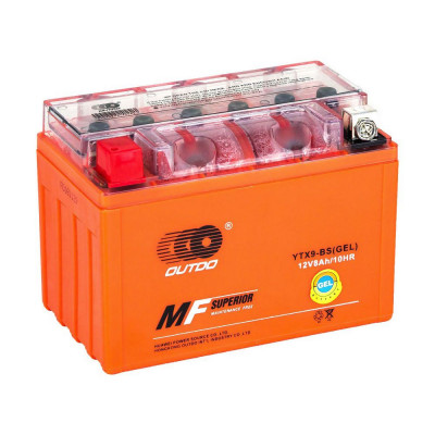 Мото аккумулятор Outdo 6СТ-8 UTX9-BS