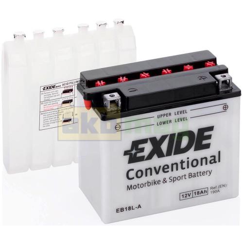 Мото аккумулятор Exide 6СТ-18 EB18L-A