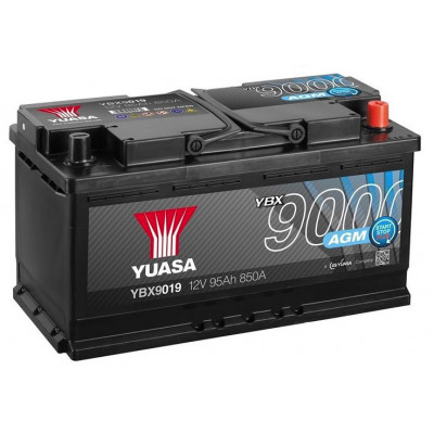 Автомобильный аккумулятор Yuasa 6СТ-95 AGM Start Stop Plus YBX9019
