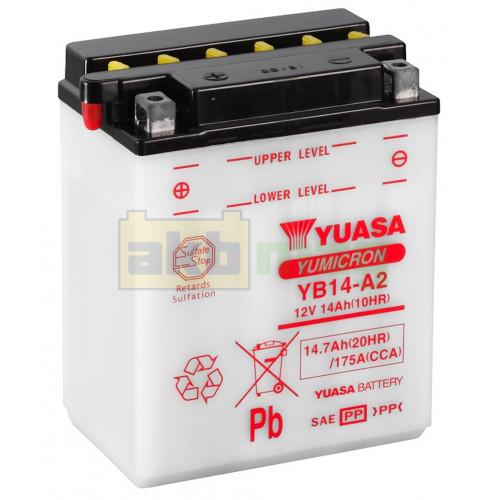 Мото аккумулятор Yuasa 6СТ-14,7 YuMicron YB14-A2