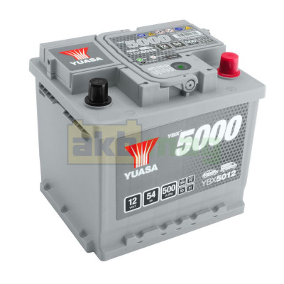 Автомобильный аккумулятор Yuasa 6СТ-54 SHP YBX5012