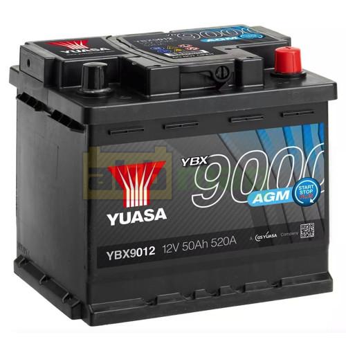 Автомобильный аккумулятор Yuasa 6СТ-50 AGM Start Stop Plus YBX9012